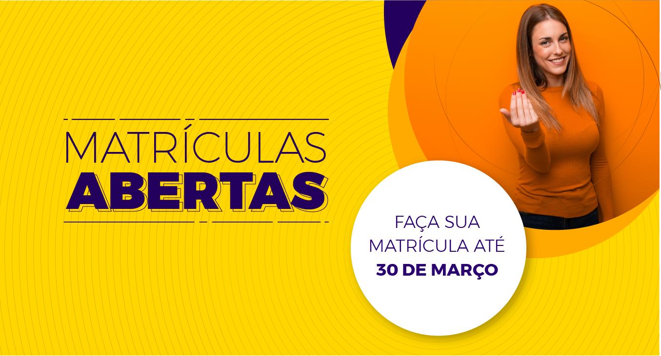 Banner Matriculas Abertas